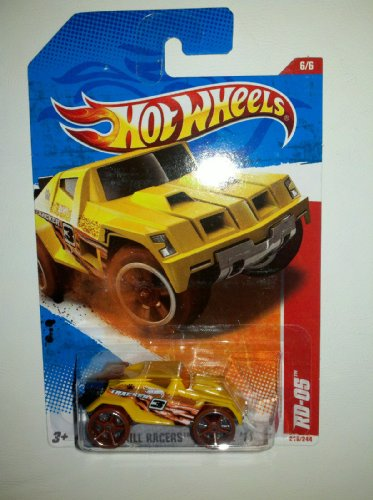 Mattel Hot Wheels 6/6 THRILL RACERS - JUNGLE '11 Yellow RD-05 #216/244