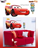 Giant Pixar Cars Lightning Mcqueen Wall Stickers Huge(44x24, USA Seller, Fast Shipping