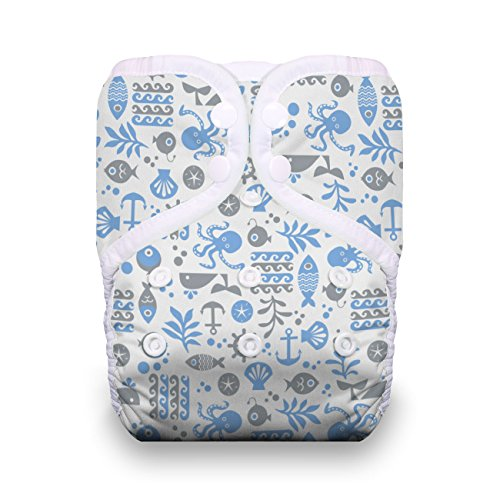 Thirsties One Size Pocket Diaper Snap, Ocean Life