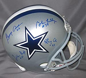 Doomsday Autographed Cowboys Full Size Helmet (Lilly) - Autographed NFL Helmets by Sports+Memorabilia
