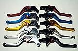 選べる5色 アルミ ブレーキ クラッチ レバー セット 6段階調整 【ADVANTAGE】 ホンダ 汎用 CBR250 NSR250 CB400SF VTR250 ゼルビス などに