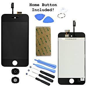 LCD Display Touch Screen Glass Panel Digitizer Black Assembly Repair Part for iPod Touch 4th Generation 4 4G 8GB 16GB 32GB 64GB from InjuredGadgets