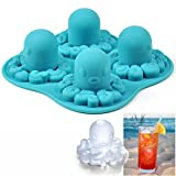 Fancy Silicone Octopus Style Freezer Ice Cube Tray Mold Maker Mould