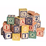 Uncle Goose Norwegian Alphabet Wooden Blocks - Made in the USA