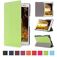 buy Cover For Zenpad Z380C ,Asus Zenpad 8.0 Case - Slim Pu Leather Tri-Fold Stand Folding Cover Case For For 8'' Asus Zenpad 8.0 (Z380C / Z380Kl) Tablet (Green)
