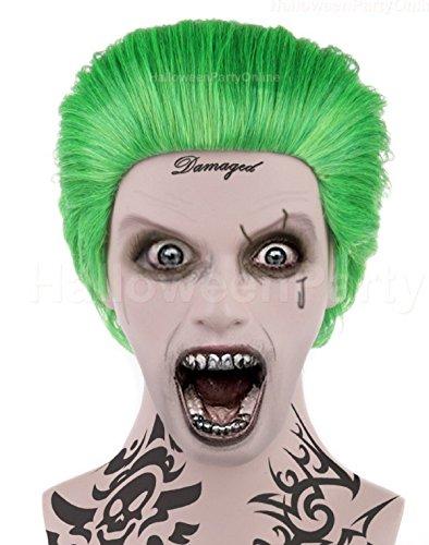 [Halloween Party Online Joker Wig Suicide Squad Green Costume Cosplay 2016] (Joker 2016 Costume)