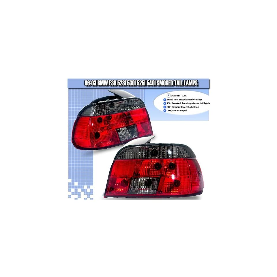 BMW 5 Series Tail Lights RED Smoked Tail Lights 1996 1997 1998 1999 2000 2001 2002 2003 96 97 98 99 00 01 02 03