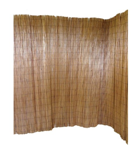 master garden products peeled willow screen fence 78 inch by 8 feet light mahogany color. Black Bedroom Furniture Sets. Home Design Ideas