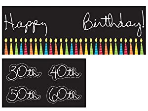 Creative Converting Party Decoration Banner with Age Stickers Great Birthday, 5-Feet by Creative Converting