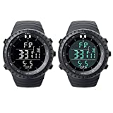 O.T.S Mens Sports Multi-functions Digital Watch with Big Dial