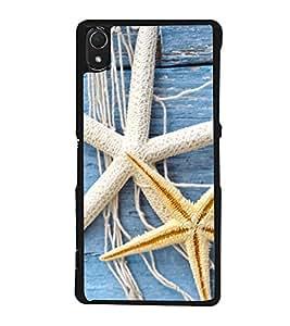 Star fish 2D Hard Polycarbonate Designer Back Case Cover for Sony Xperia Z3 :: Sony Xperia Z3 Dual :: Sony Xperia Z3 D6633