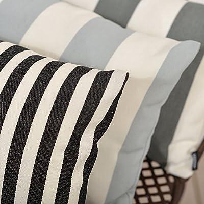 Kissenhülle 25x40cm Outdoor Streifen schwarz-weiß von Apart auf Gartenmöbel von Du und Dein Garten