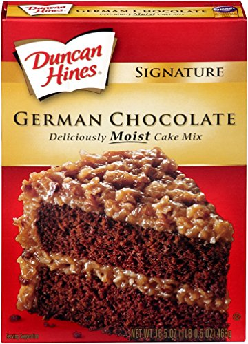Duncan Hines Moist Deluxe Cake Mix, German Chocolate, 16.25 Ounce (Pack of 6) (German Chocolate Cake Mix compare prices)