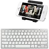 iKross Bluetooth Portable Keyboard + Cell Phone Stand Holder For Apple iPhone 6 / 6 Plus / 5 / 5S/ 5C/ 5, 4S 4 / Samsung Note 5 4 3, Galaxy S6 S5 and more Cellphone Smartphone