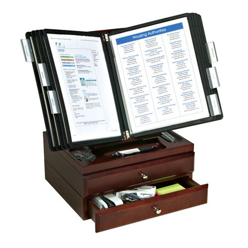 Woodworx 10 pocket reference organizer with 2 supply - Desk reference organizer ...
