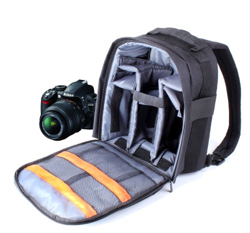 DURAGADGET Portable Water Resistant Nylon Rucksack For Nikon D7100, D5000, D3100, D90 & D5100, With Shoulder Strap