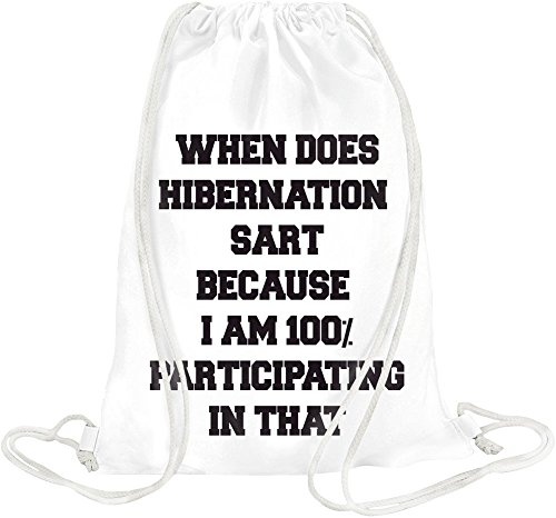 when-does-hibernation-start-slogan-drawstring-bag