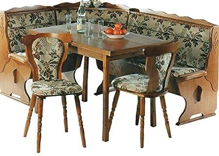 LIEFERUNG in die WOHNUNG - 5.5.4.6.2534: Kucheneckbankgruppe - Eckbankgruppe - Eiche rustikal P43 - Eckbank - ausziebarer Tisch - 2 Stuhle
