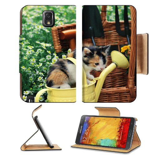 Kitten Watering Can Spotted Sitting Toddler Samsung Galaxy Note 3 N9000 Flip Case Stand Magnetic Cover Open Ports Customized Made To Order Support Ready Premium Deluxe Pu Leather 5 15/16 Inch (150Mm) X 3 1/2 Inch (89Mm) X 9/16 Inch (14Mm) Liil Note Cover front-658881
