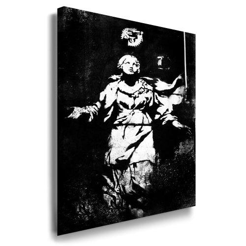 "Banksy Bild - 70x50cm k. Poster ! nr. 7321 Bild fertig auf Keilrahmen ! Pop Art Gemälde Kunstdrucke, Wandbilder, Bilder zur Dekoration - Deko / Top 100 ""Banksy"" Modern Bilder"