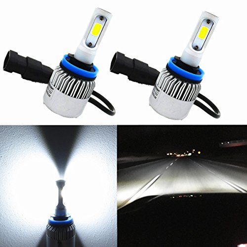 Alla Lighting 8000lm Xtremely Super Bright 6000K Xenon White High Power COB Mini H11 H8 H9 LED Headlight Conversion Kits Lamps Replacement (H11ll Headlight Bulbs compare prices)