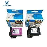 VICTORSTAR @ Remanufactured Tintenpatronen Ersatz für HP 300XL (1 Schwarz CC641EE + 1 Tricolor CC644E) hohe Rendite- mit Chips für die Ansicht Tintenvolumen