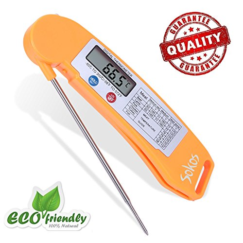 Instant read thermometer food thermometer sokos quick read digital