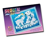KSG Arts and Crafts Sequin Art and Beads 1005 Polar Bear Picture Kit