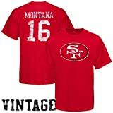 Reebok San Francisco 49ers #16 Joe Montana Retired Legends Name & Number Vintage T-shirt