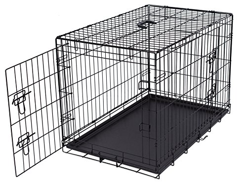 Internet\'s Best Wire Dog Kennel | Medium (36 Inches) | Double Door ...