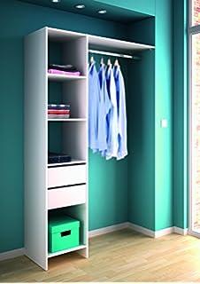 kleiderschrank mit vorhang offen begehbar wei anthrazit grau. Black Bedroom Furniture Sets. Home Design Ideas