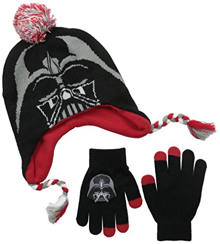 Star Wars Little Boys' Darth Vader Peruvian Hat and Glove Set
