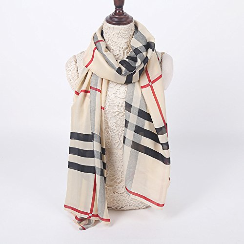 Fashion-Plaid-Scarf-Warm-Sunshade-Shawl-Scarf-All-match-Dual-purpose-Ladies-Scarf-Khaki