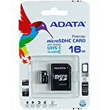 ADATA Premier 16GB microSDHC/SDXC UHS-I U1 Memory Card with One Adapter (AUSDH16GUICL10-RA1)