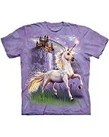 Unicorn Castle Child Fantasy Unisex T Shirt The Mountain