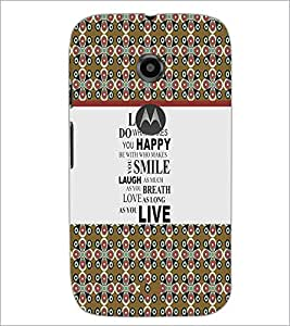 PrintDhaba Quote D-5755 Back Case Cover for MOTOROLA MOTO E2 (Multi-Coloured)