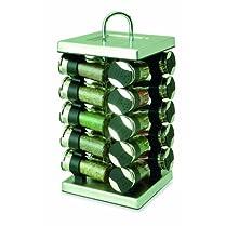 Olde Thompson 20-Jar Square Chrome Spice Rack