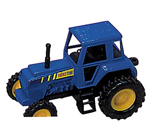 Tractor- Die Cast Metal - Pull Back and Go - (BLUE) - 1