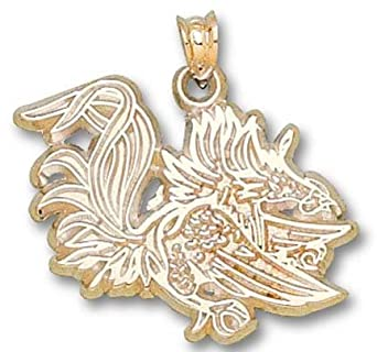 South Carolina Gamecocks Gamecock 3 4 Pendant - 14KT Gold Jewelry by Logo Art