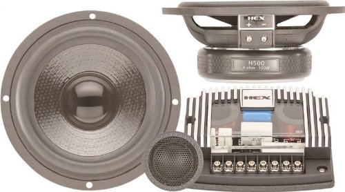 "H500S - Diamond Audio 5.25"" Hex Series Component Speaker System With Silk Tweeters"