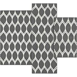 Mainstays Sheridan Ogee 3-piece Accent Rug Set, Gray