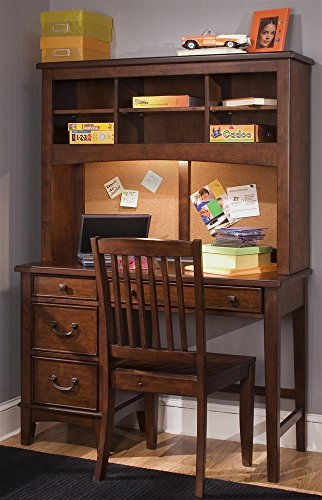 """Chelsea Square Youth Bedroom 44"""" W Computer Desk With Hutch front-731782"""