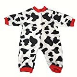Highmall High Simulation Baby Dolls Clothes Cow Pattern Rompers Suit 2 for 16 inches Dolls