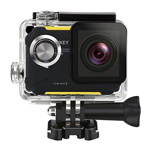 AUKEY Action Camera Sport Full HD 1080P WiFi Impermeabile a 60m di Pronfondità Grandangolare 170 Gradi per Ciclismo, Nuoto e altri Sport Esterni con Kit di Accessori Gratuiti(AC-WC1)