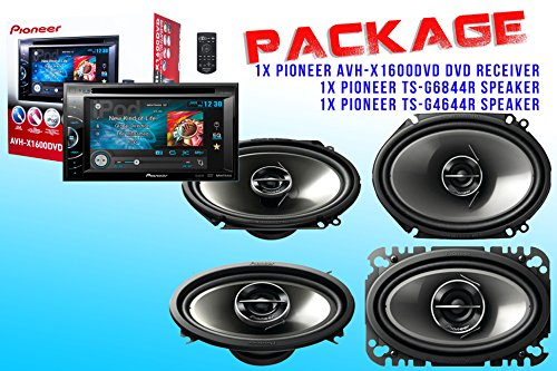 Package ! Pioneer Avh-X1600Dvd Dvd Receiver + Pioneer Ts-G6844R Speaker + Pioneer Ts-G4644R Speakers