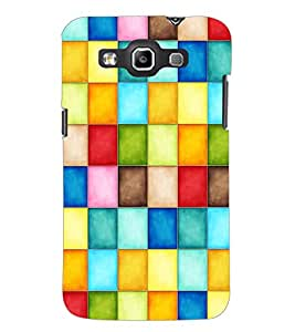 PrintDhaba Coloured Blocks D-3860 Back Case Cover for SAMSUNG GALAXY WIN i8552 (Multi-Coloured)