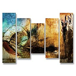 Neron Art - Handpainted Abstract Oil Painting on Gallery Wrapped Canvas Group of 5 pieces - Mid Sussex 50X40 inch (127X102 cm)