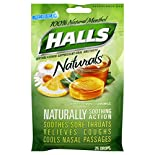 Halls Naturals Cough Suppressant/Oral Anesthetic, Menthol, Honey-Lemon Chamomile, 25 drops