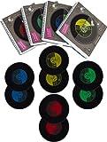 VENKON - 2er Set: Untersetzer aus Silikon in Schallplatten