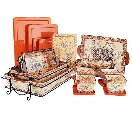 Temp-tations Old World 16-piece Oven-to-Table Set